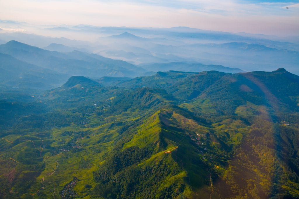 Hills and Tea Plantations of Sri Lanka