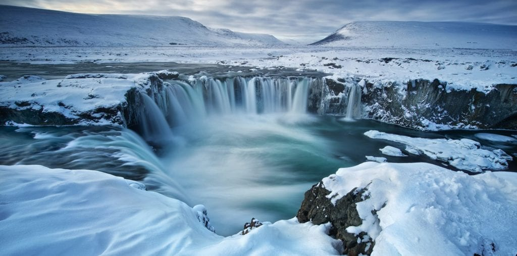 River waterfall Iceland