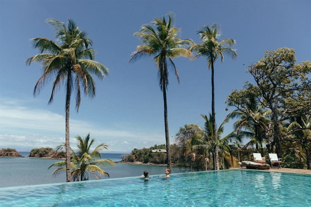 Infinity Pool at Isla Secas Panama