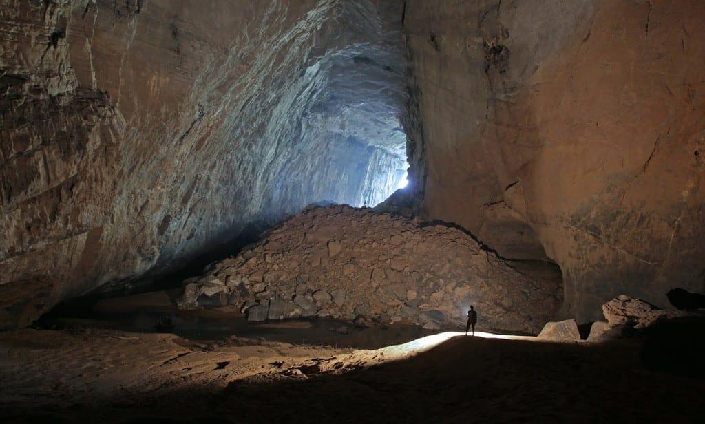 Inside Hang En Cave Vietnam