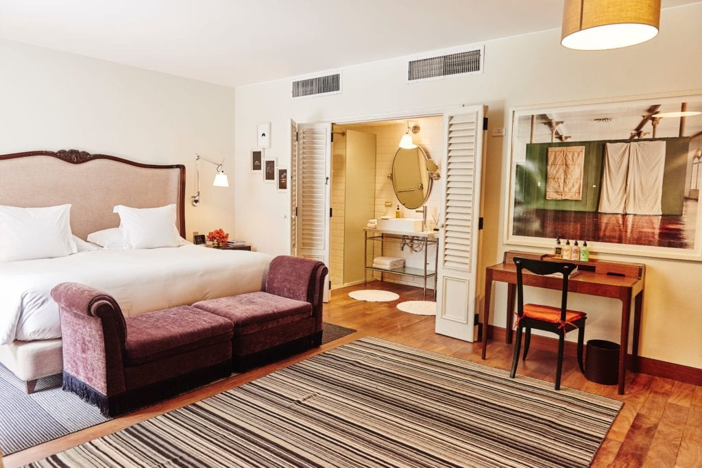 Interior of en-suite bedroom at Hotel B Peru