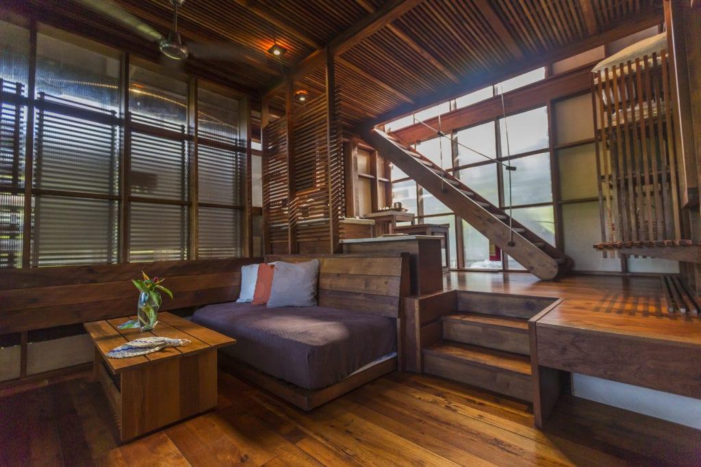 Interior of Lounge Area at Jicaro Island Ecolodge in Nicaragua