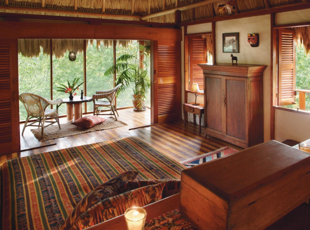Interior Room at Blancaneaux Lodge Belize