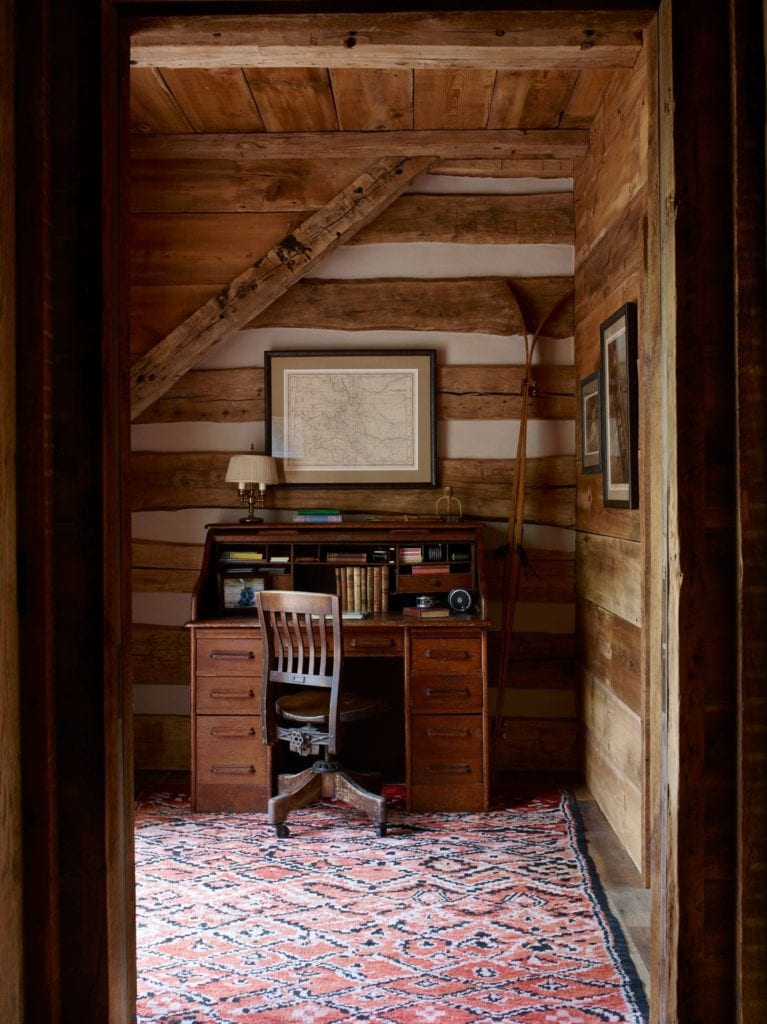 Interior of Study Area at Taylor River Lodge Colorado USA