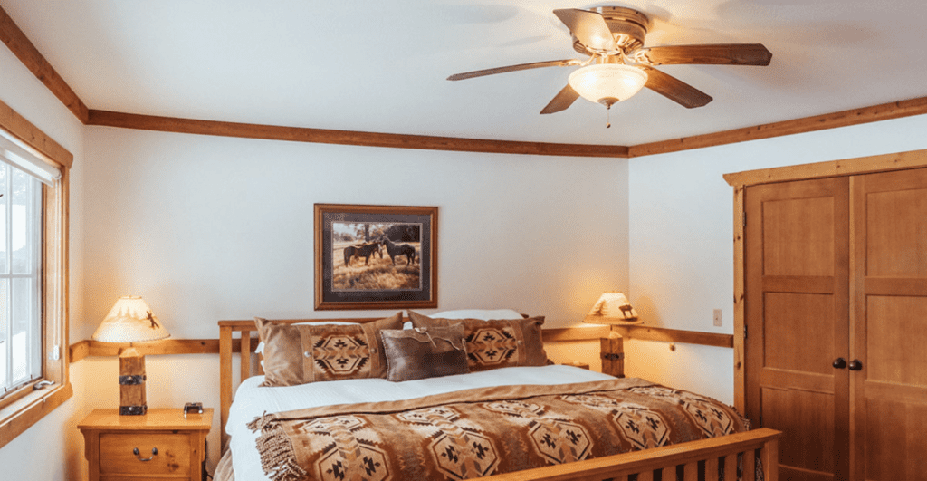 Interior of Bedroom at Paws Up Montana North America