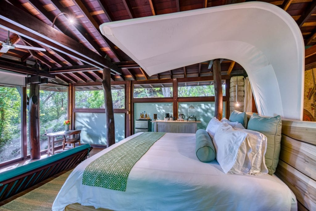 Interior of Room at Morgans Rock in Nicaragua