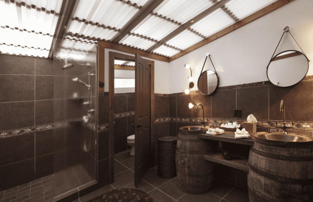 BAthroom Interior at Paws Up Montana North America
