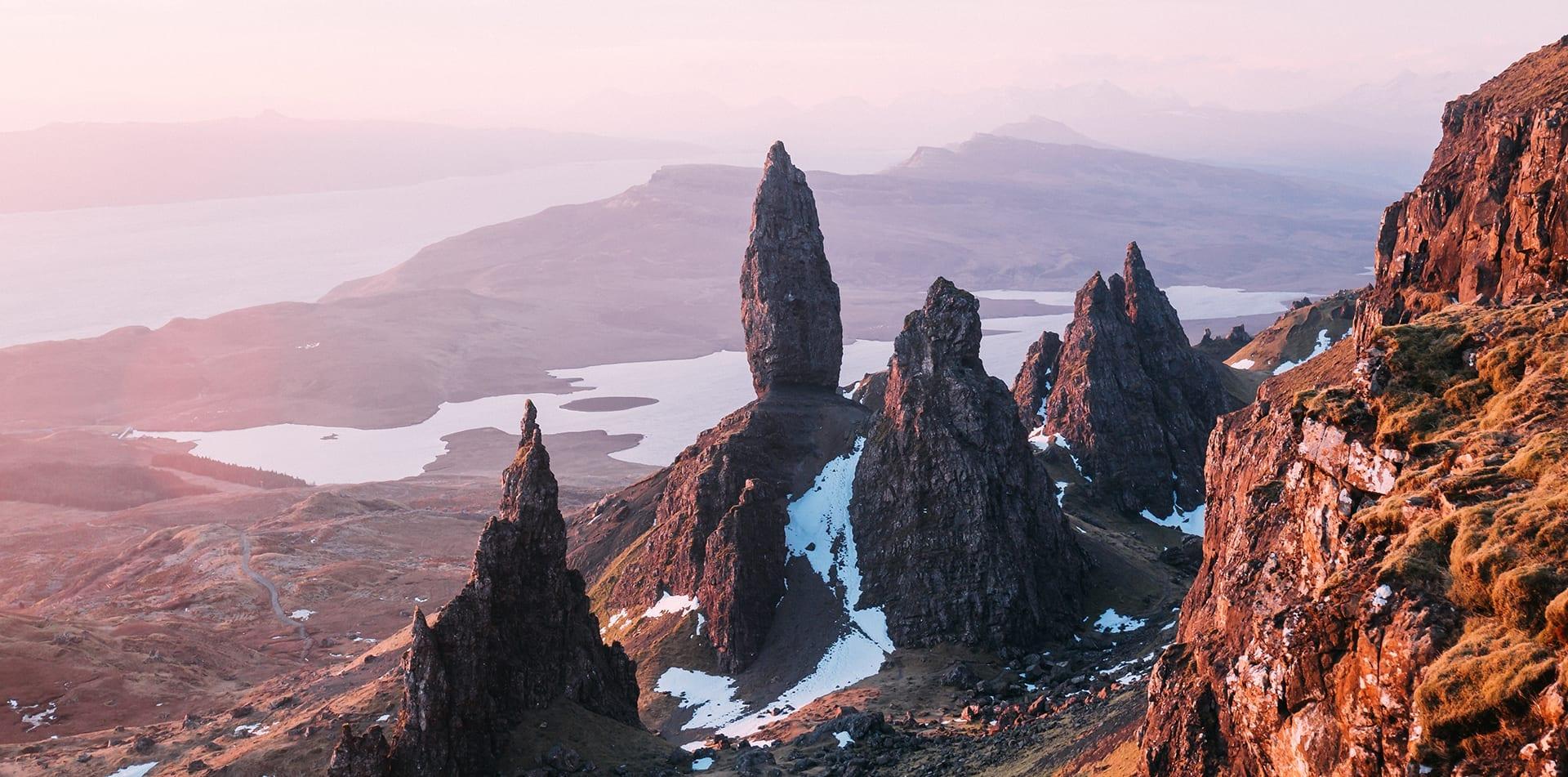 Isle of Skye Pink sunrise