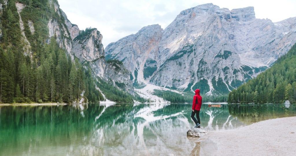 Italy Dolomites Lake