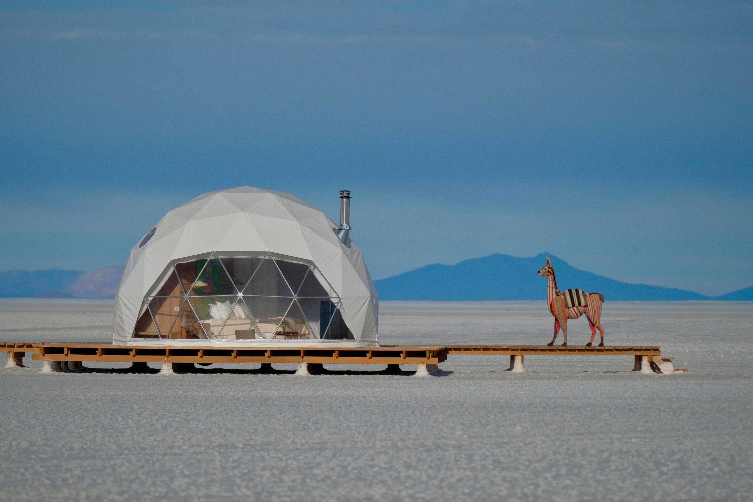 Exterior of Dome at Kachi Lodge in Bolivia