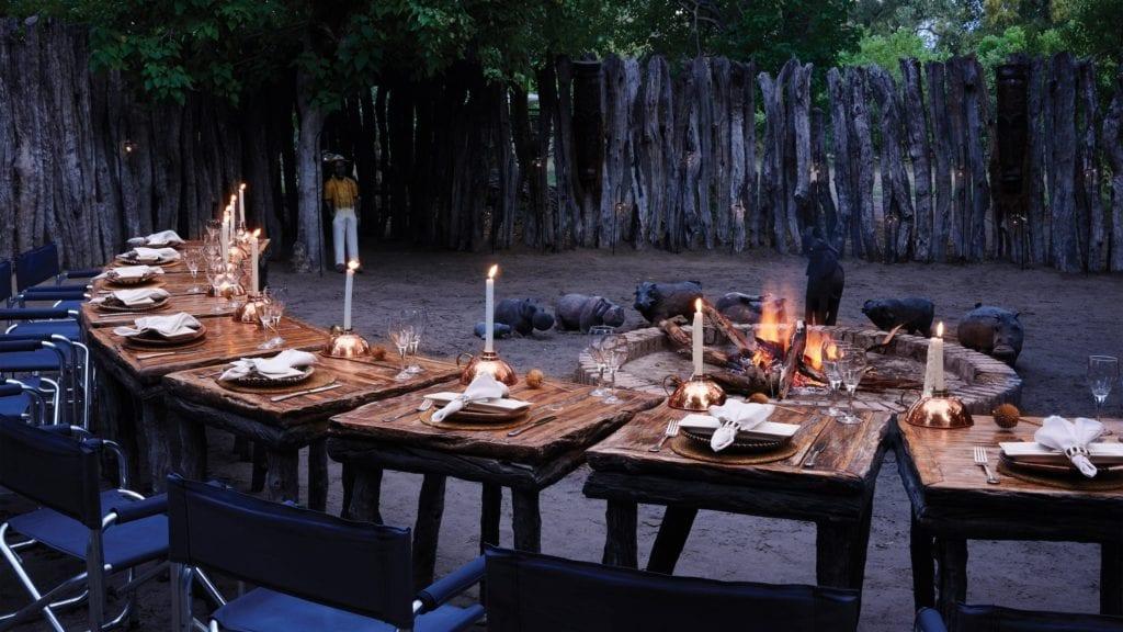 Bonfire and Dinner at Khwai