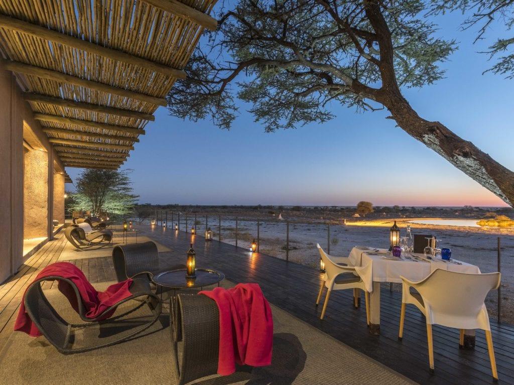 Onguma Lodge Exterior Seating Area Namibia
