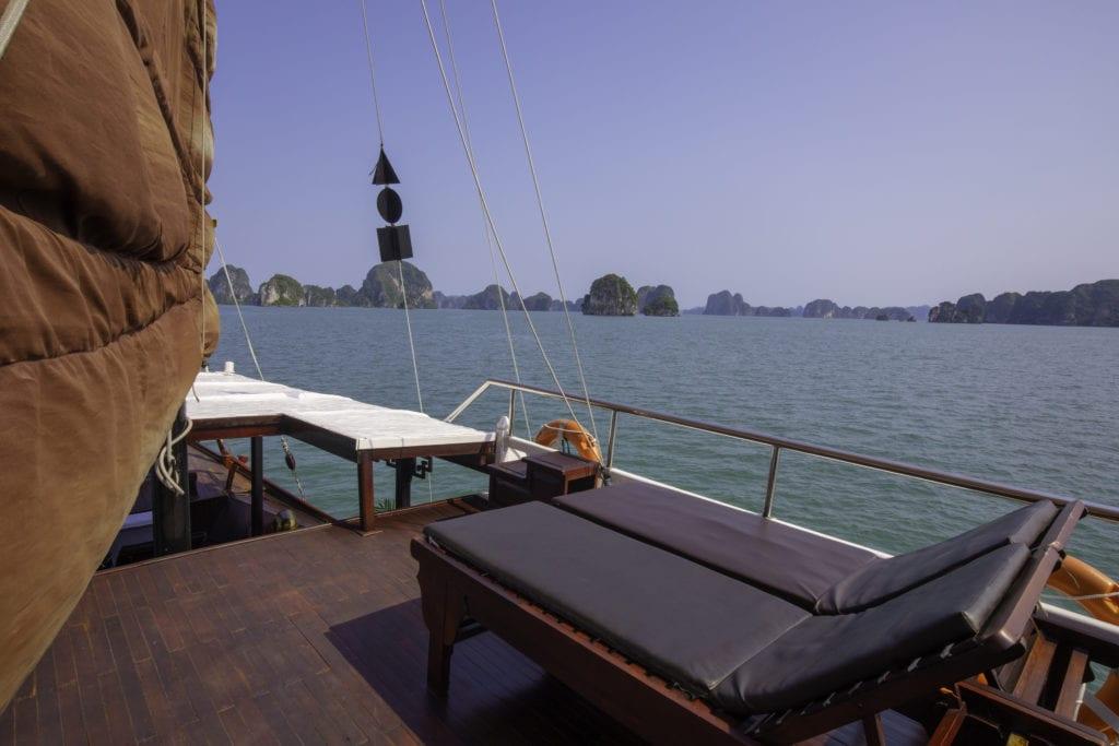 Sunbeds Lamour Junk Halong Bay Vietnam