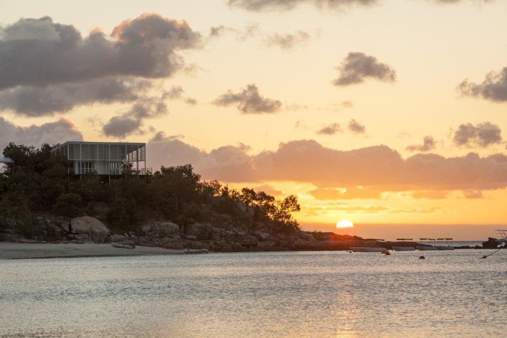 Lizard Island Pavilion Exterior at Sunset