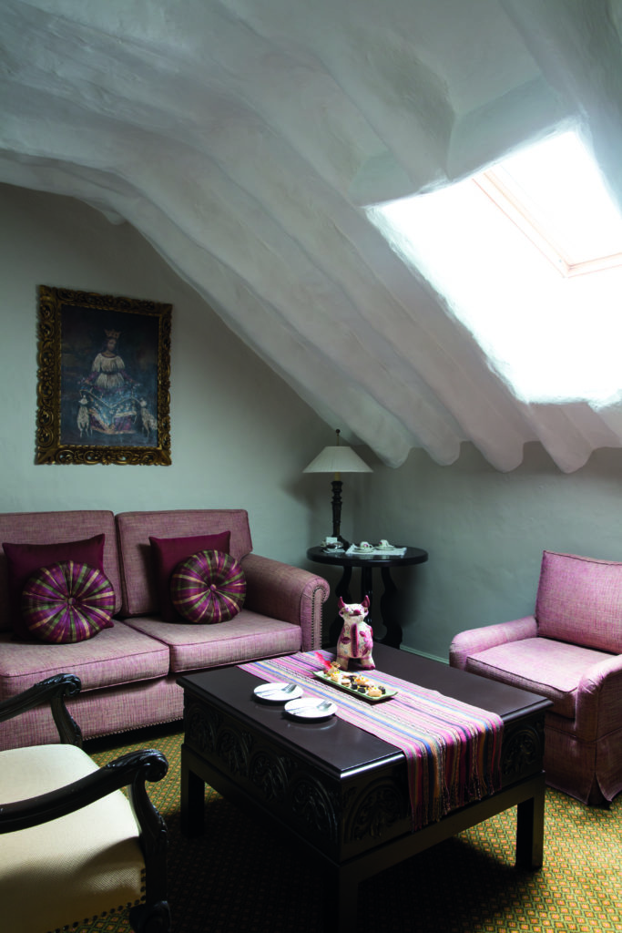 Lounge Area Interior at Belmond Hotel Monasterio Peru