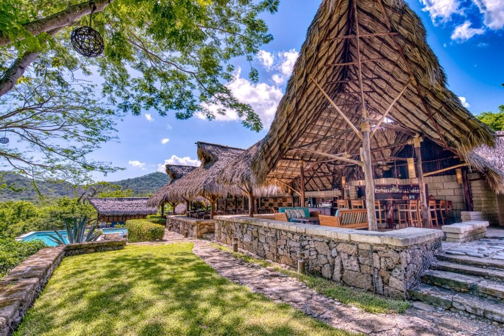 Lounge and Dining Area Exterior of Morgans Rock in Nicaragua