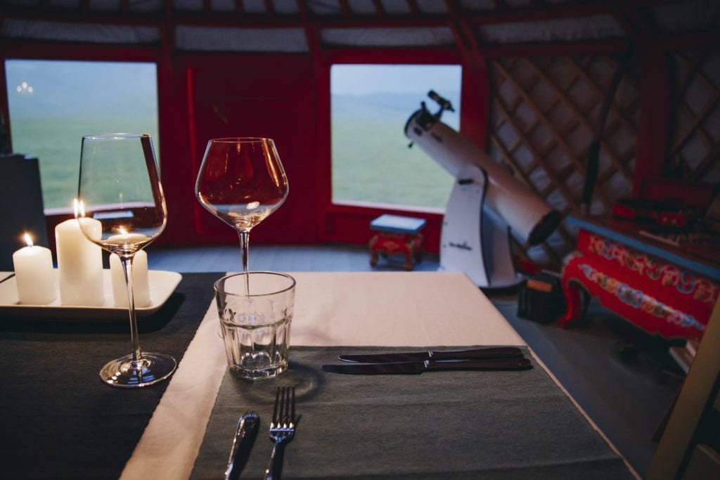 Mongolia Dinner Setting by Panoramic Journeys
