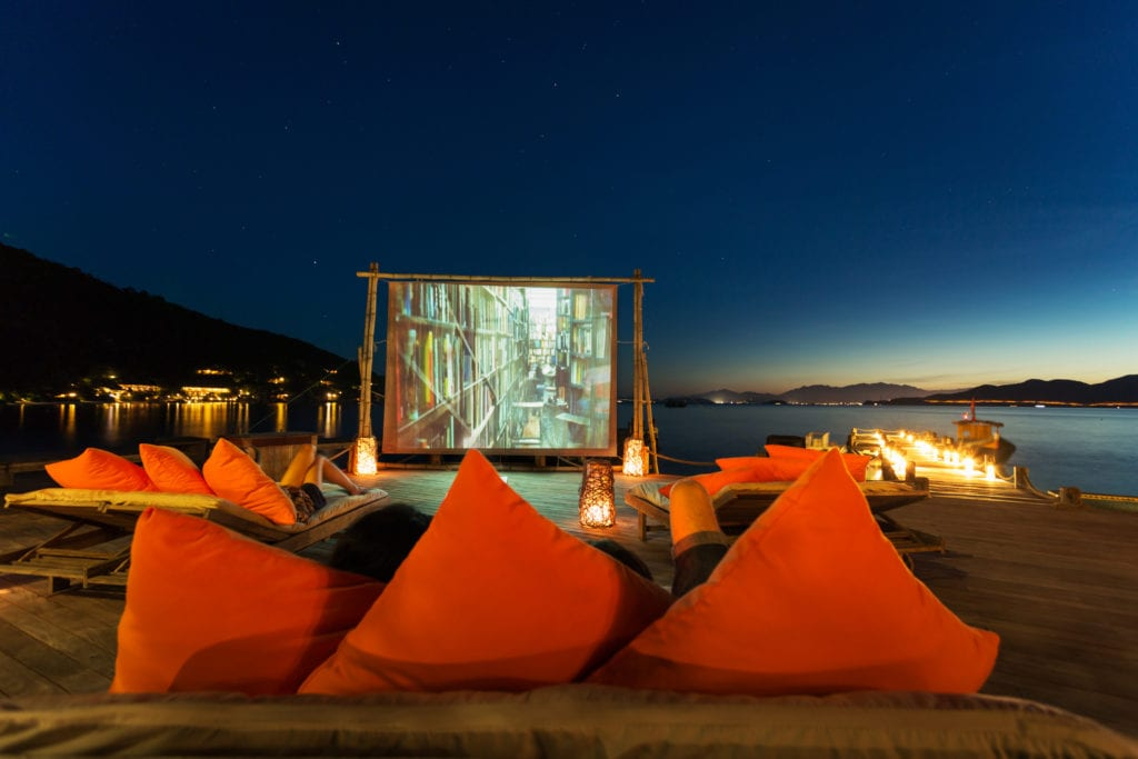 Movie at the Beach Vietnam Six Senses