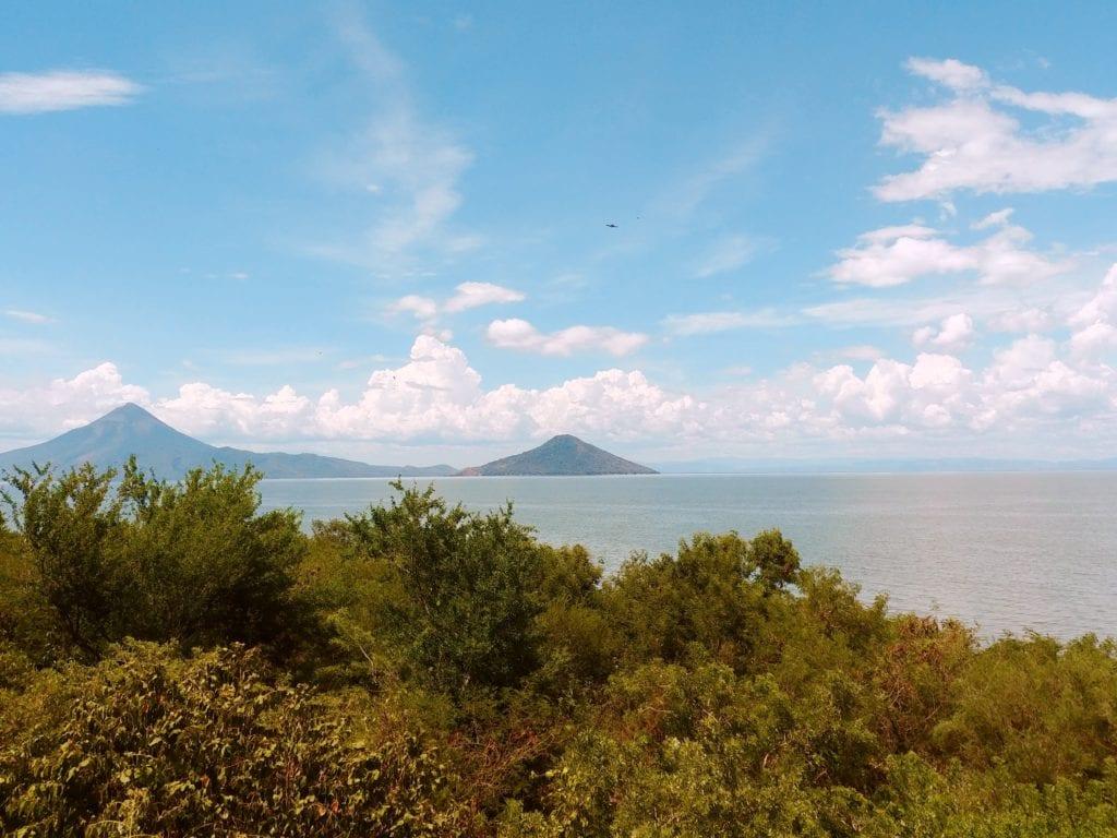 Views of Ocean and Volcano in Nicaragua