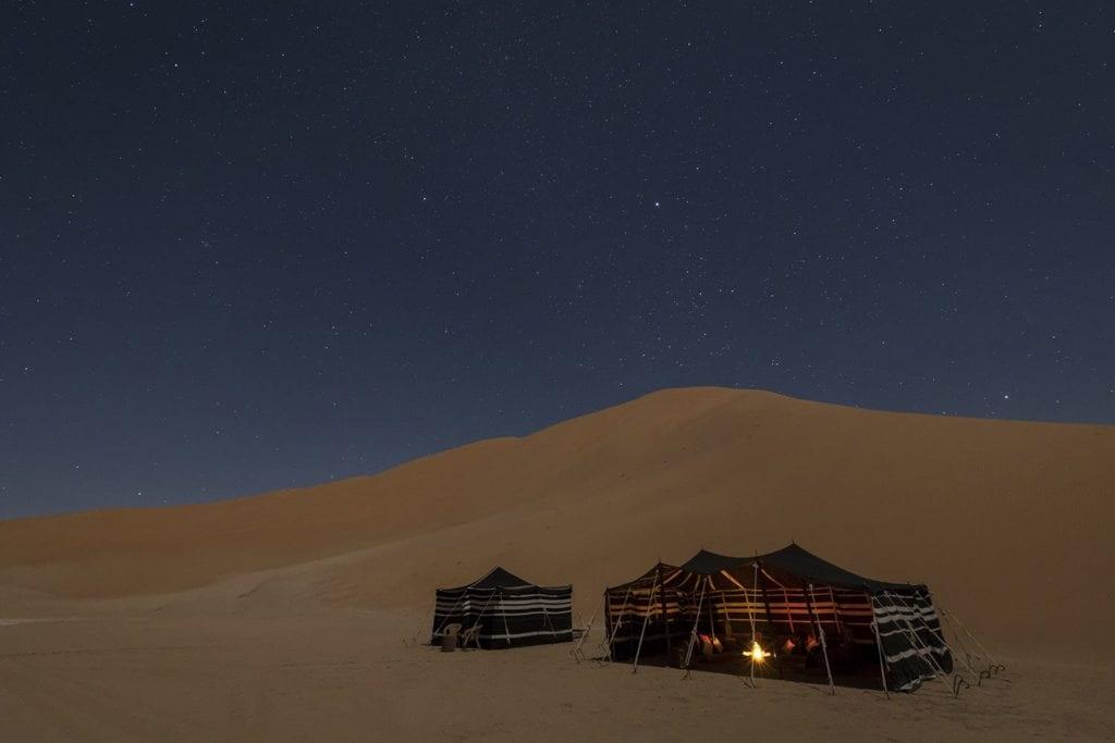 Bedouin-style tents Desert Camping Oman
