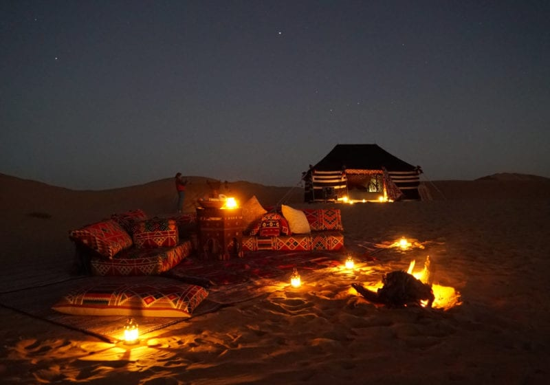 Luxury Camp at night