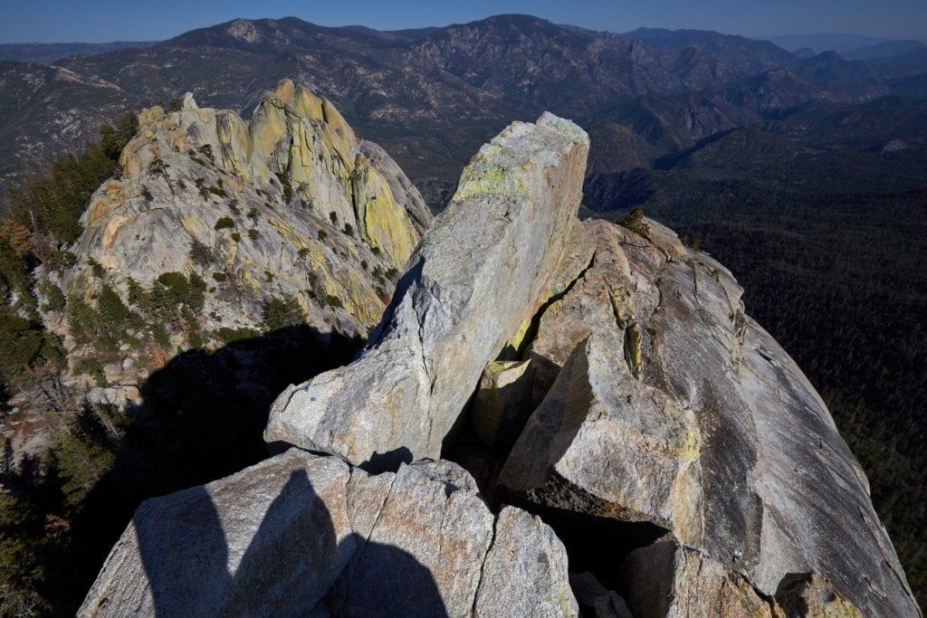 Rocky ridge in California