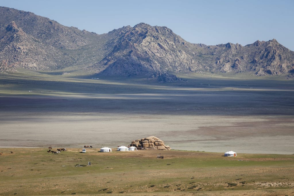 Tents Camp in Mongolia