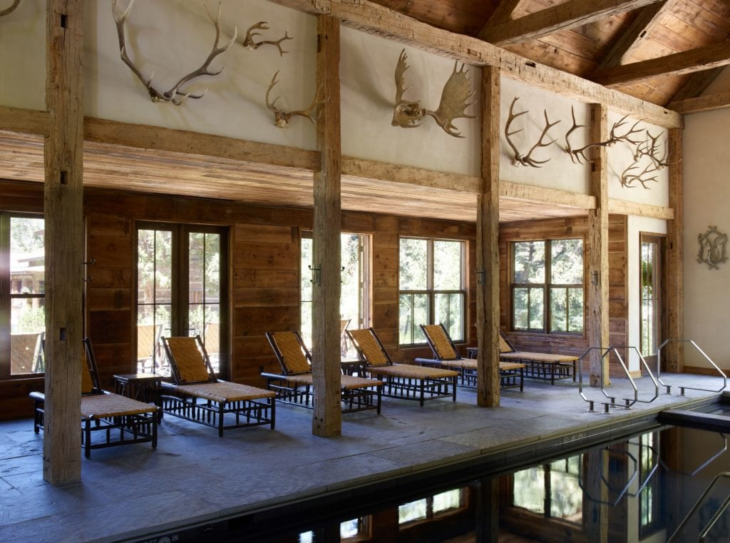Interior of Pool at Taylor River Lodge Colorado USA