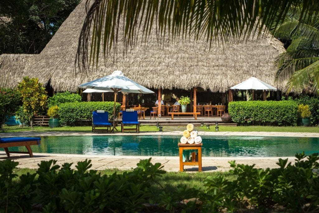 Pool and Lounge Area Exterior Turtle Inn Belize