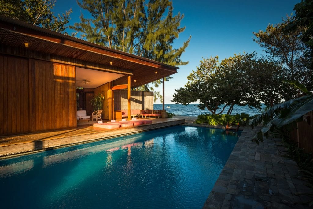 Private Pool and exterior of Turtle Inn Belize