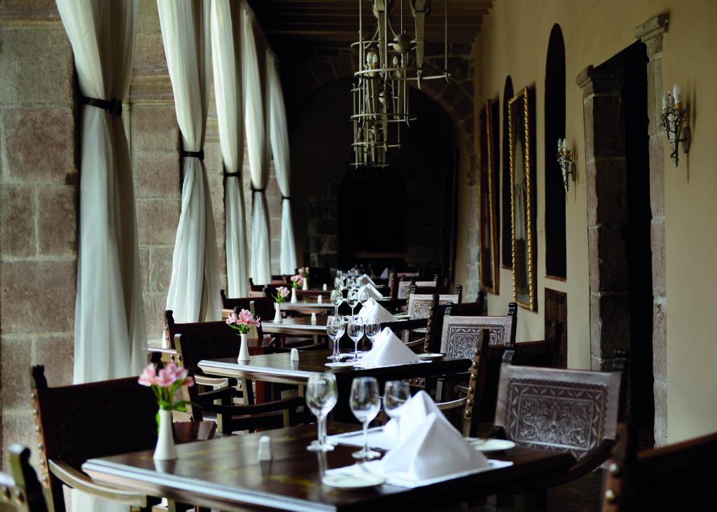 Restaurant at Belmond Hotel Monasterio Peru