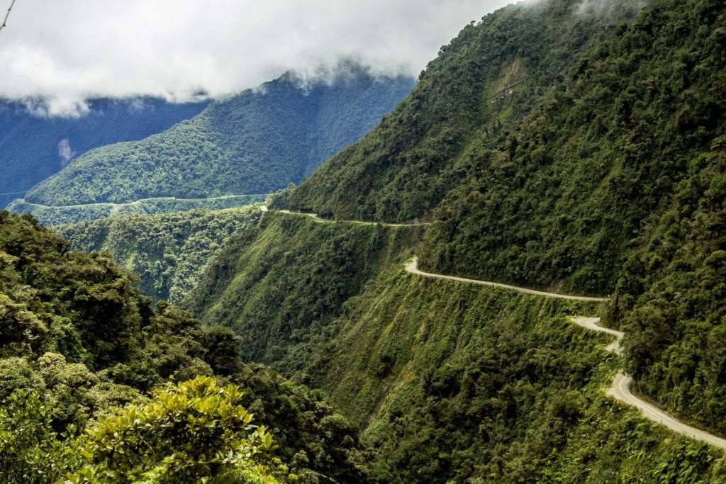 Road of Death Yungas in Bolivia