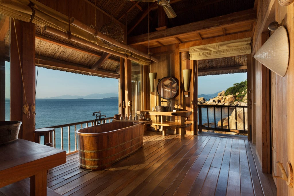 Rock Pool Villa Bathroom Six Senses Ninh Van Bay Vietnam