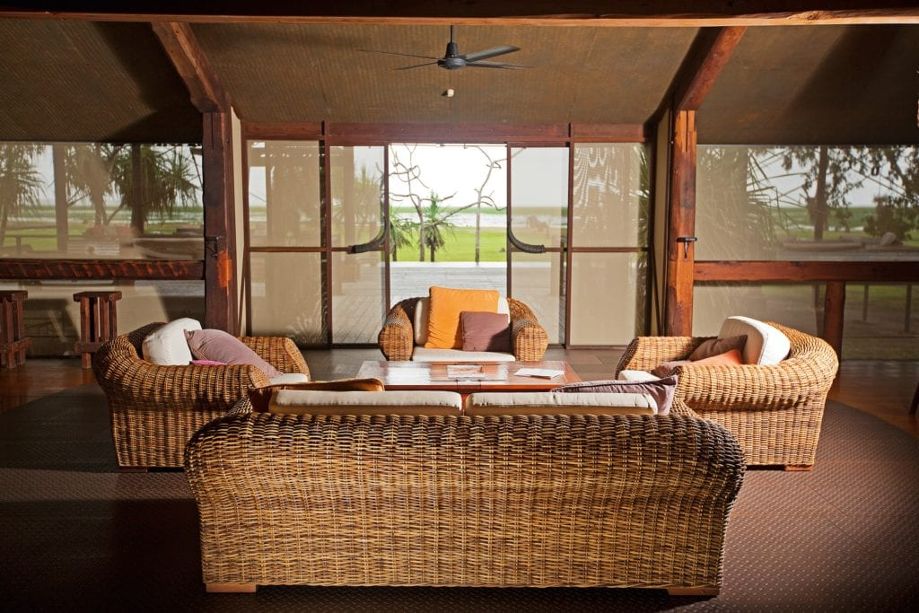 Safari Lodge Lounge Area Interior at Bamurru Plains Australia