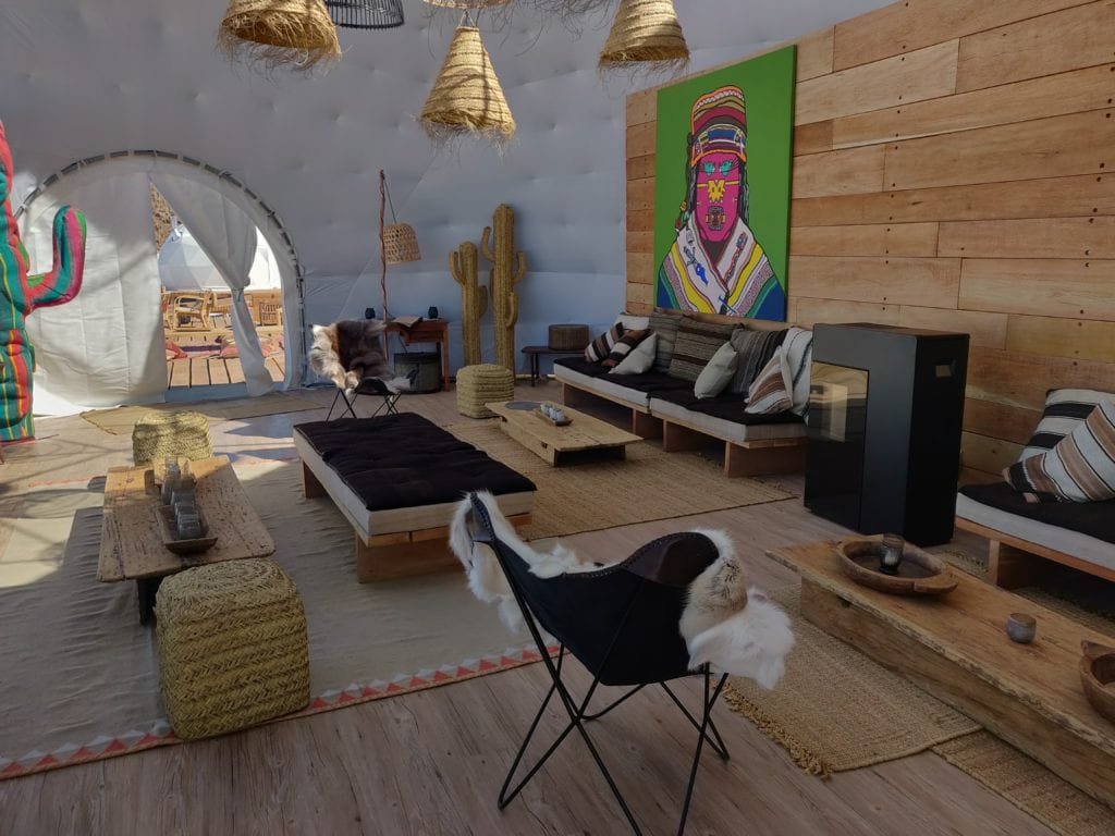 Interior Seating Area at Kachi Lodge in Bolivia
