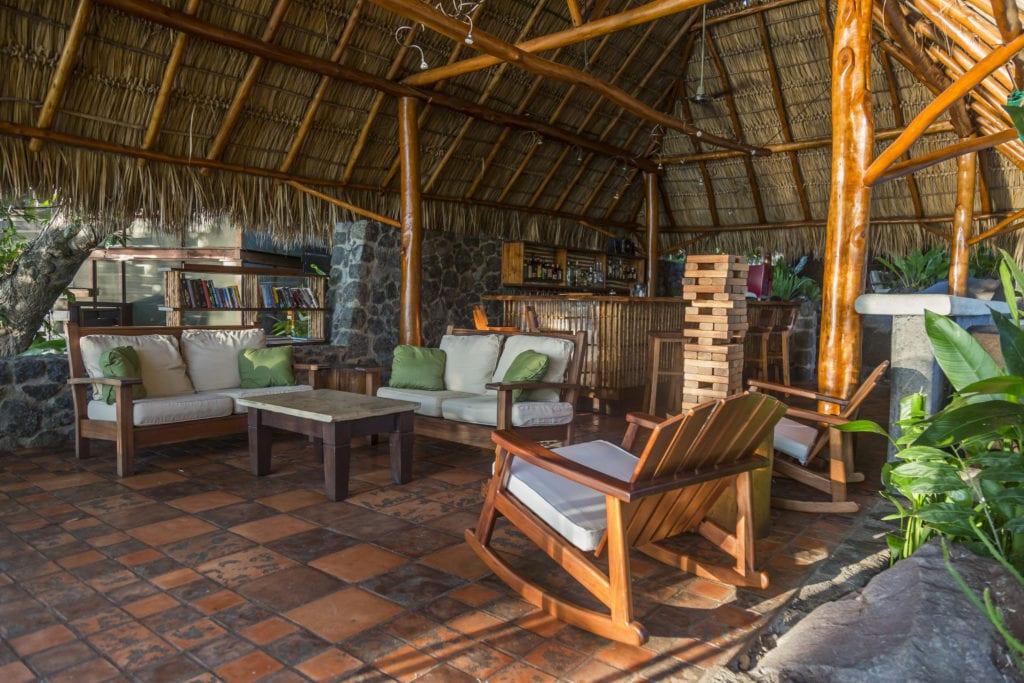 Seating and Lounge Area Interior at Jicaro Island Ecolodge