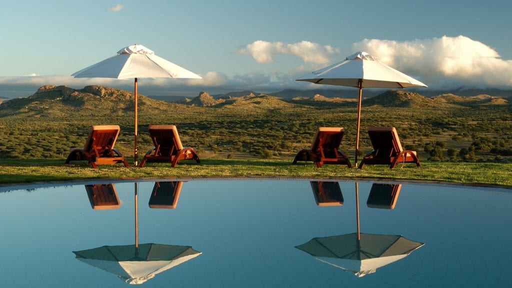 Pool at GocheGanas Nature Reserve and Wellness Village Namibia