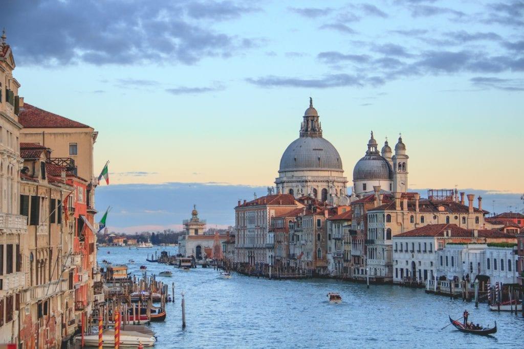 Venice Italy, blue skies