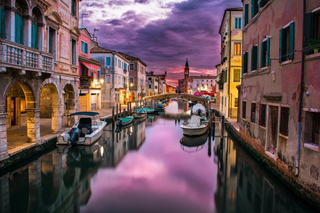 Night in Venice Italy