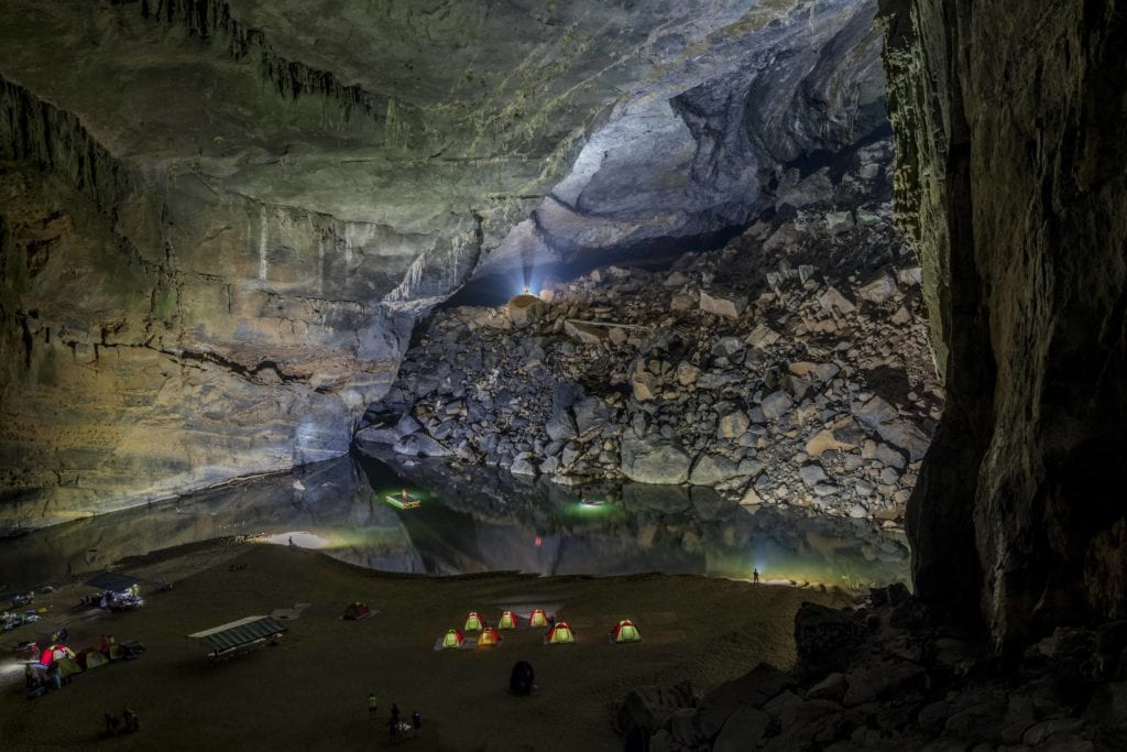 Camp Inside Vietnam Cave