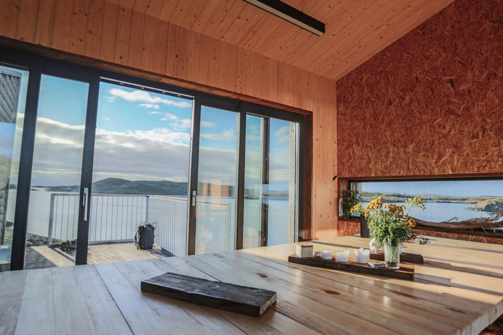 View From Arctic Hideaway Dining Area Norway