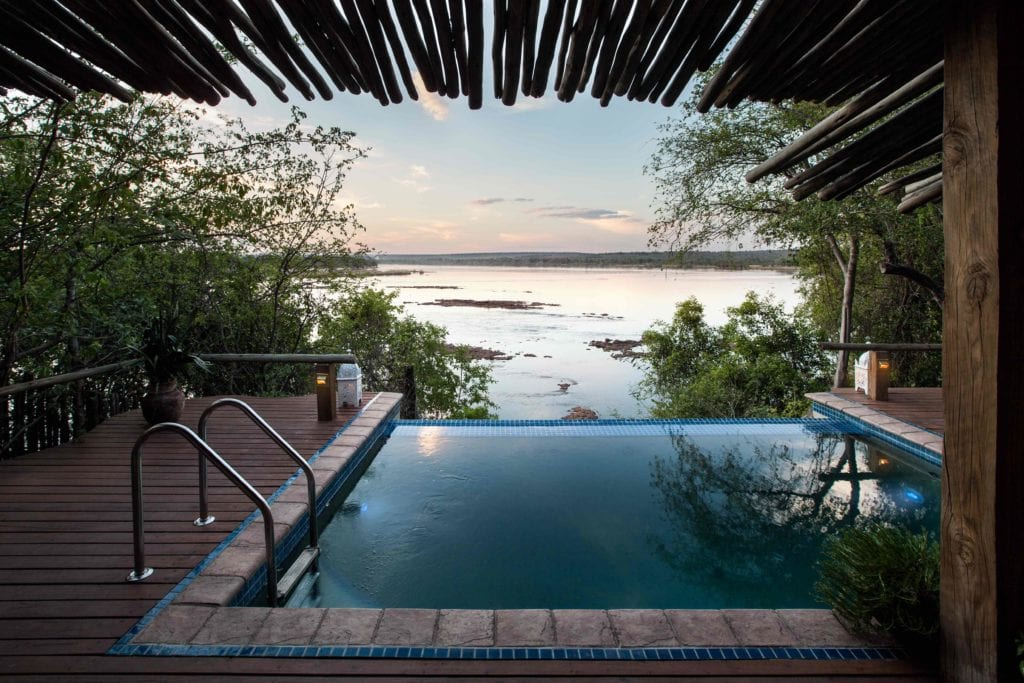 View from Pool Room Togabezi Lodge