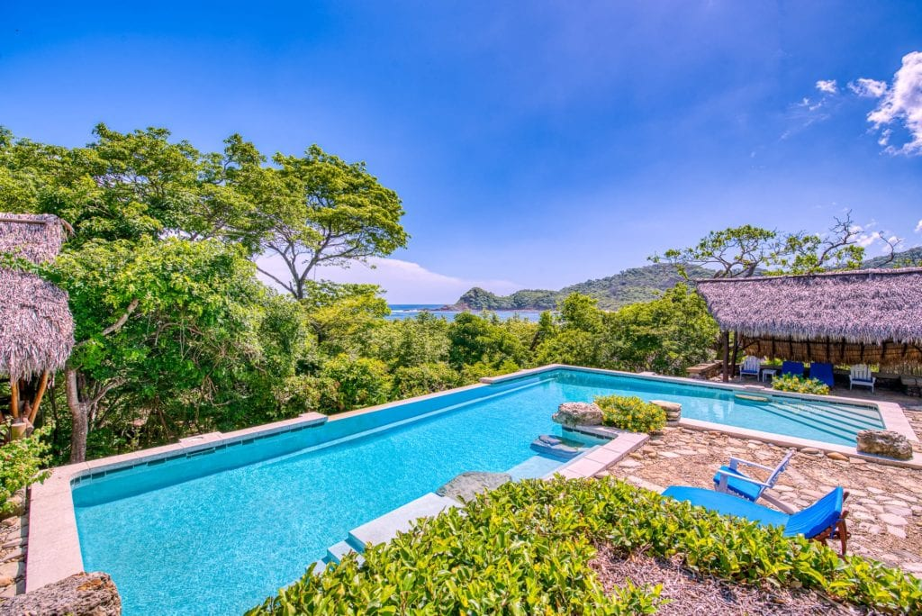 View of Pool and Exterior at Morgans Rock in Nicaragua