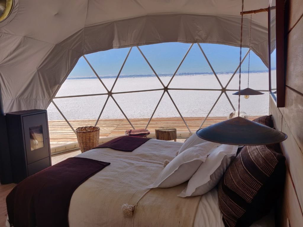 View from Dome at Kachi Lodge in Bolivia