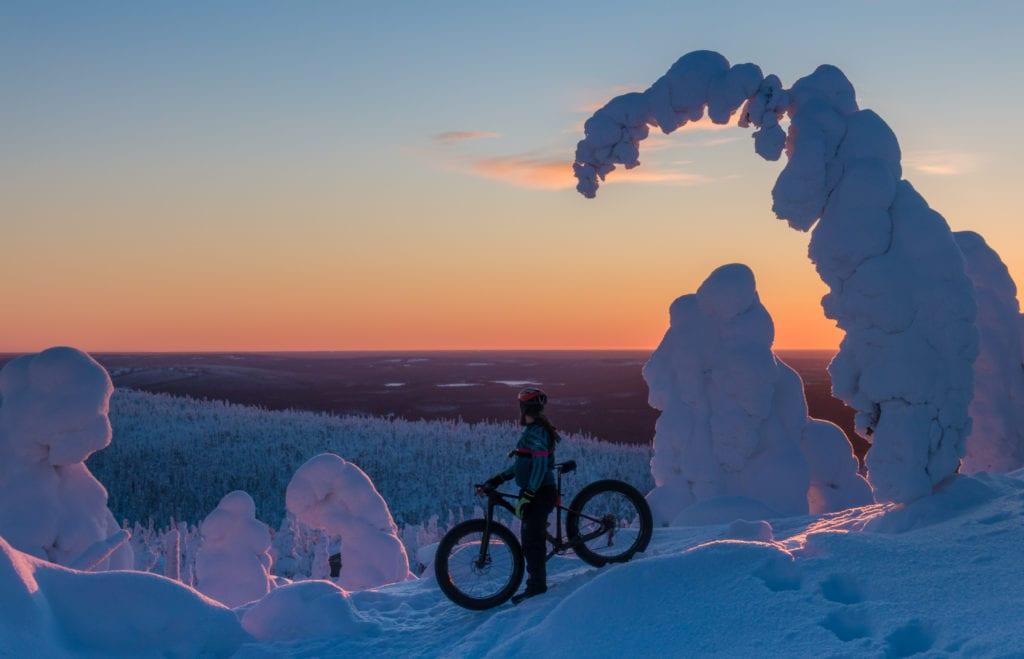 Finland Ice Landscape Bike