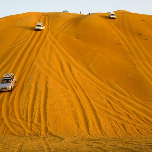 Oman driving in desert 4x4