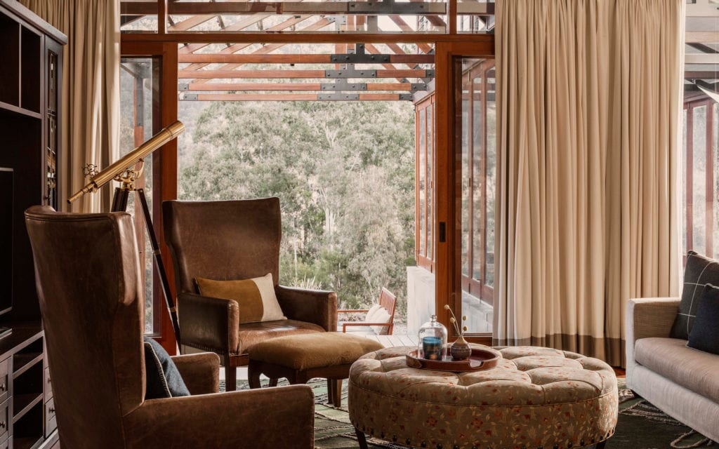 Wollemi Villa Lounge Interior at One and Only Wolgan Valley in Australia
