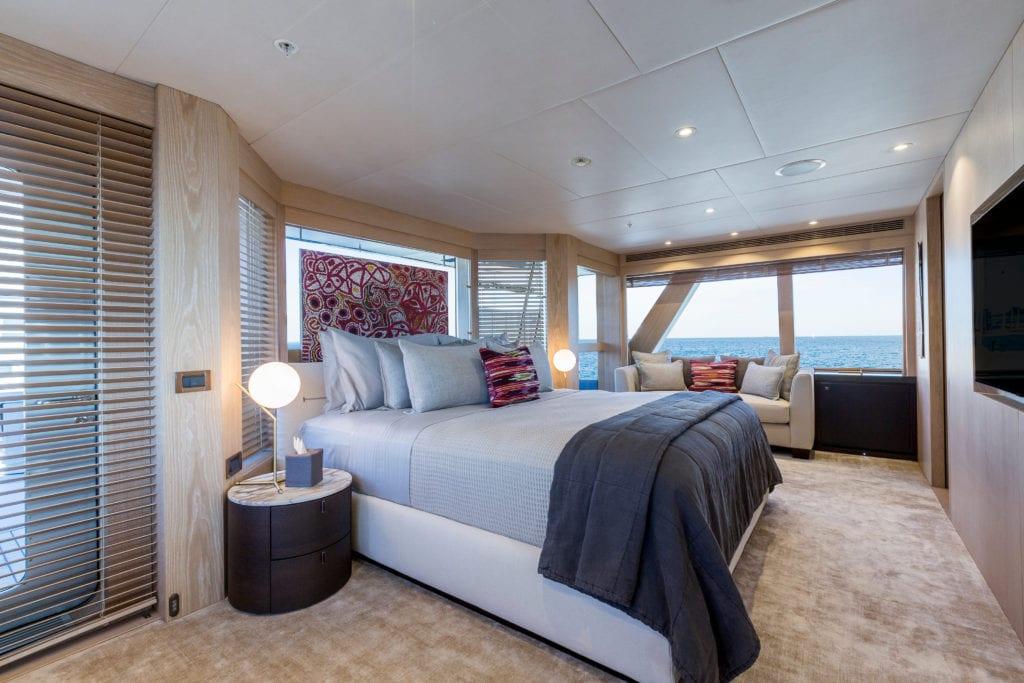 akiko yacht interior master cabin
