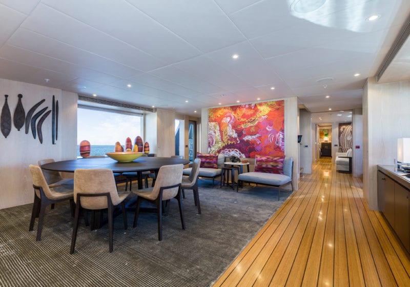 akiko yacht interior salon
