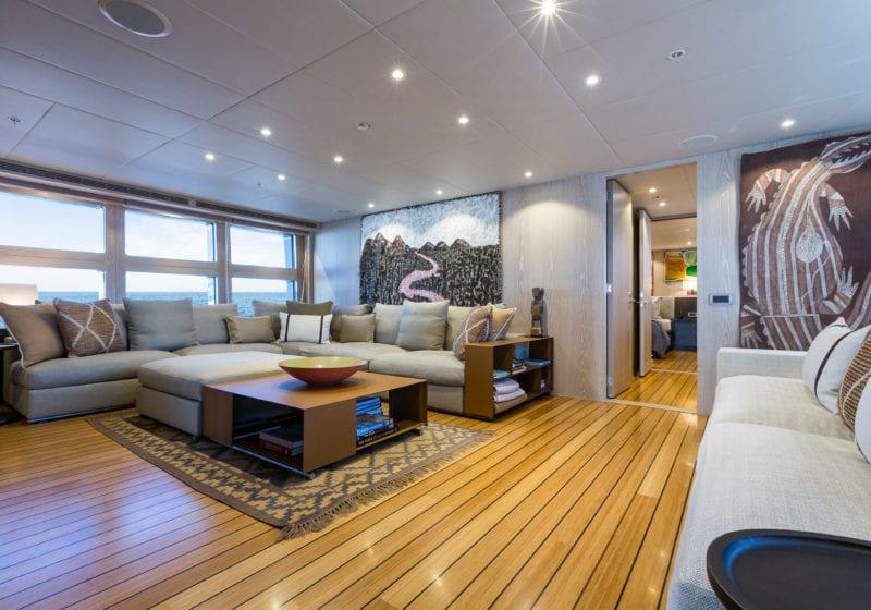 Akiko yacht interior lounge